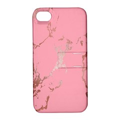 Luxurious Pink Marble Apple Iphone 4/4s Hardshell Case With Stand by tarastyle