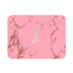 Luxurious Pink Marble Double Sided Flano Blanket (mini)  by tarastyle