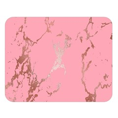 Luxurious Pink Marble Double Sided Flano Blanket (large)  by tarastyle