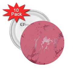 Luxurious Pink Marble 2 25  Buttons (10 Pack)  by tarastyle