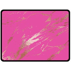 Luxurious Pink Marble Double Sided Fleece Blanket (large)  by tarastyle