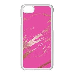 Luxurious Pink Marble Apple Iphone 7 Seamless Case (white) by tarastyle