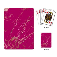 Luxurious Pink Marble Playing Card by tarastyle