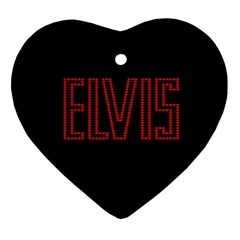 Elvis Presley Heart Ornament (two Sides) by Valentinaart