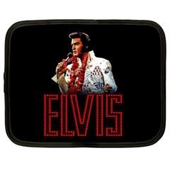 Elvis Presley Netbook Case (large) by Valentinaart