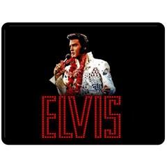 Elvis Presley Double Sided Fleece Blanket (large)  by Valentinaart