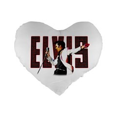 Elvis Presley Standard 16  Premium Flano Heart Shape Cushions by Valentinaart