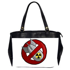No Nuclear Weapons Office Handbags (2 Sides)  by Valentinaart
