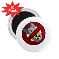 No Nuclear Weapons 2 25  Magnets (10 Pack)  by Valentinaart