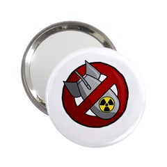 No Nuclear Weapons 2 25  Handbag Mirrors by Valentinaart