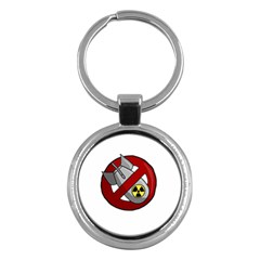 No Nuclear Weapons Key Chains (round)  by Valentinaart