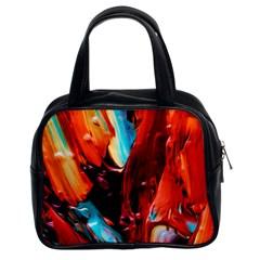 Abstract Acryl Art Classic Handbags (2 Sides) by tarastyle