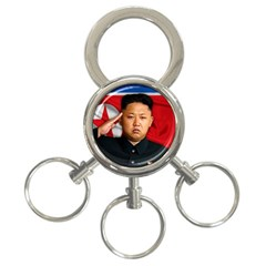 Kim Jong Un 3 Ring Key Chains by Valentinaart