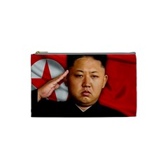 Kim Jong Un Cosmetic Bag (small)  by Valentinaart