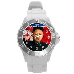Kim Jong Un Round Plastic Sport Watch (l) by Valentinaart