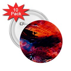 Abstract Acryl Art 2 25  Buttons (10 Pack)  by tarastyle
