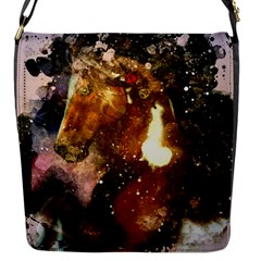 Wonderful Horse In Watercolors Flap Messenger Bag (s) by FantasyWorld7