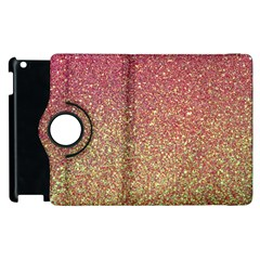 Rose Gold Sparkly Glitter Texture Pattern Apple Ipad 3/4 Flip 360 Case by paulaoliveiradesign