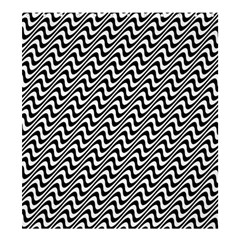 Black And White Waves Illusion Pattern Shower Curtain 66  X 72  (large)  by paulaoliveiradesign