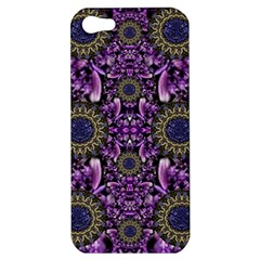 Flowers From Paradise In Fantasy Elegante Apple Iphone 5 Hardshell Case by pepitasart
