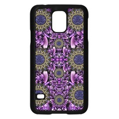 Flowers From Paradise In Fantasy Elegante Samsung Galaxy S5 Case (black) by pepitasart
