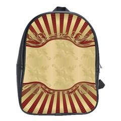 Art Deco Red School Bag (xl) by 8fugoso
