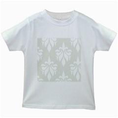 Fleur De Lis Kids White T Shirts by 8fugoso