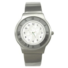 Fleur De Lis Stainless Steel Watch by 8fugoso