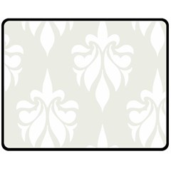 Fleur De Lis Double Sided Fleece Blanket (medium)  by 8fugoso