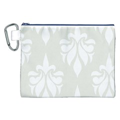 Fleur De Lis Canvas Cosmetic Bag (xxl) by 8fugoso