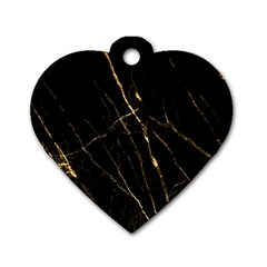 Black Marble Dog Tag Heart (two Sides) by 8fugoso