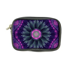 Beautiful Hot Pink And Gray Fractal Anemone Kisses Coin Purse by beautifulfractals