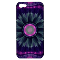 Beautiful Hot Pink And Gray Fractal Anemone Kisses Apple Iphone 5 Hardshell Case by beautifulfractals