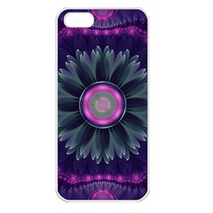 Beautiful Hot Pink And Gray Fractal Anemone Kisses Apple Iphone 5 Seamless Case (white) by beautifulfractals