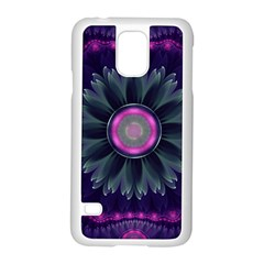 Beautiful Hot Pink And Gray Fractal Anemone Kisses Samsung Galaxy S5 Case (white) by beautifulfractals