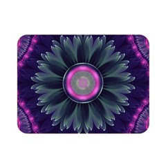 Beautiful Hot Pink And Gray Fractal Anemone Kisses Double Sided Flano Blanket (mini)  by beautifulfractals