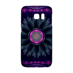 Beautiful Hot Pink And Gray Fractal Anemone Kisses Galaxy S6 Edge by beautifulfractals