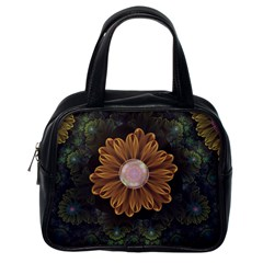 Abloom In Autumn Leaves With Faded Fractal Flowers Classic Handbags (one Side) by beautifulfractals