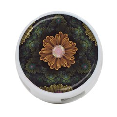 Abloom In Autumn Leaves With Faded Fractal Flowers 4 Port Usb Hub (one Side) by beautifulfractals