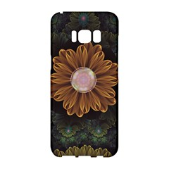 Abloom In Autumn Leaves With Faded Fractal Flowers Samsung Galaxy S8 Hardshell Case  by beautifulfractals