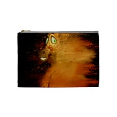 The Funny, Speed Giraffe Cosmetic Bag (medium)  by FantasyWorld7