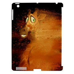 The Funny, Speed Giraffe Apple Ipad 3/4 Hardshell Case (compatible With Smart Cover) by FantasyWorld7