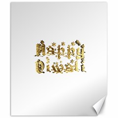 Happy Diwali Gold Golden Stars Star Festival Of Lights Deepavali Typography Canvas 20  X 24   by yoursparklingshop