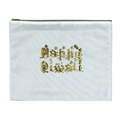 Happy Diwali Gold Golden Stars Star Festival Of Lights Deepavali Typography Cosmetic Bag (xl) by yoursparklingshop