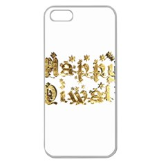 Happy Diwali Gold Golden Stars Star Festival Of Lights Deepavali Typography Apple Seamless Iphone 5 Case (clear) by yoursparklingshop