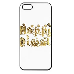 Happy Diwali Gold Golden Stars Star Festival Of Lights Deepavali Typography Apple Iphone 5 Seamless Case (black) by yoursparklingshop