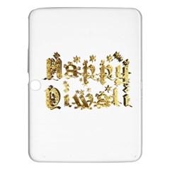 Happy Diwali Gold Golden Stars Star Festival Of Lights Deepavali Typography Samsung Galaxy Tab 3 (10 1 ) P5200 Hardshell Case  by yoursparklingshop