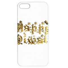 Happy Diwali Gold Golden Stars Star Festival Of Lights Deepavali Typography Apple Iphone 5 Hardshell Case With Stand by yoursparklingshop