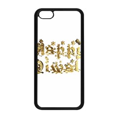 Happy Diwali Gold Golden Stars Star Festival Of Lights Deepavali Typography Apple Iphone 5c Seamless Case (black) by yoursparklingshop