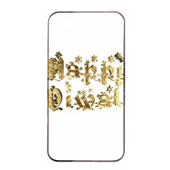 Happy Diwali Gold Golden Stars Star Festival Of Lights Deepavali Typography Apple Iphone 4/4s Seamless Case (black) by yoursparklingshop